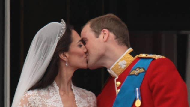 Das köngiliche Paar an Tag ihrer Hochzeit