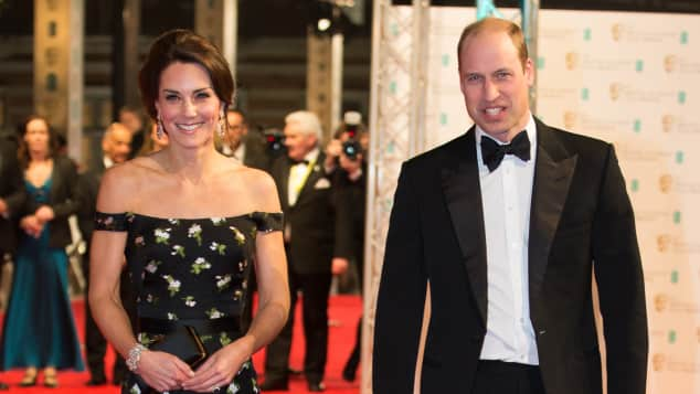 Herzogin Kate und Prinz William bei den 70. British Academy Film Awards (BAFTA) in der Royal Albert Hall