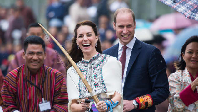 Kate Middleton und Prinz WIlliam haben Spaß in Bhutan