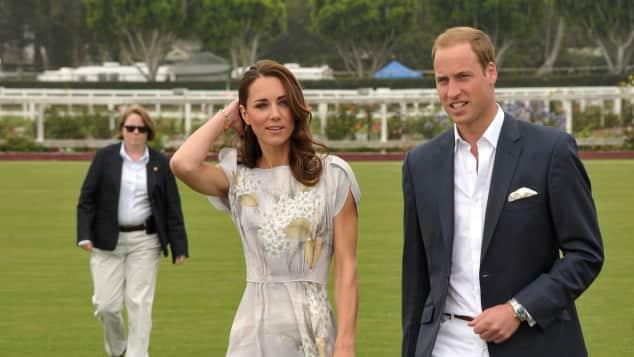Herzogin Kate mit Prinz William bei einem Polo-Turnier