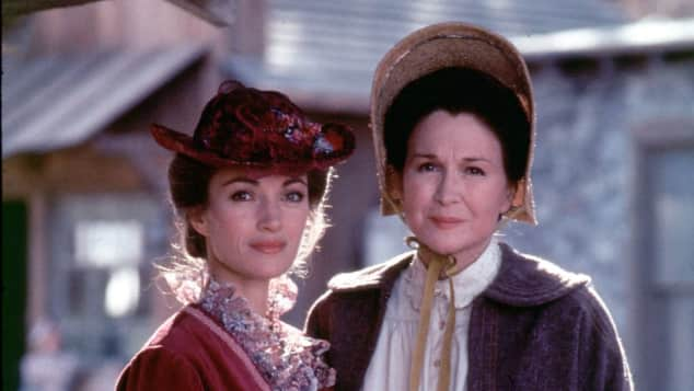 """Jane Seymour und Jane Wyman in ihren Rollen in der Serie """"Dr. Quinn"""""""
