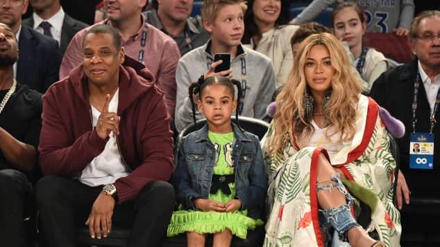 Jay-Z, Blue Ivy und Beyoncé