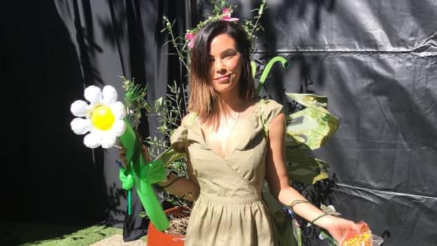 Jenna Dewan-Tatum im Natur-Elfen-Kostüm bei der Halloween-Party im Kindergarten
