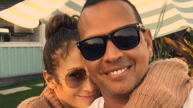 Jennifer Lopez and Alexander Rodriguez show their love on Instagram.