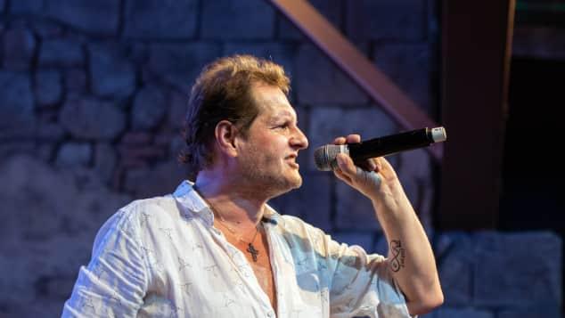 Jens Büchner bei seinem Auftritt im Megapark vergangen Freitag