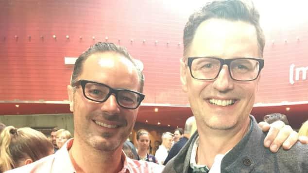 """""""Erkan und Stefan""""-Darsteller John Friedmann (l.) und Florian Simbeck bei der Premiere zu """"Bullyparade - Der Film"""""""