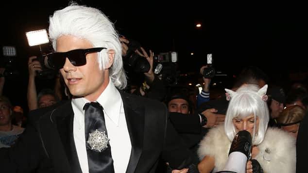 Josh Duhamel Fergie Halloween Karl Lagerfeld Katze
