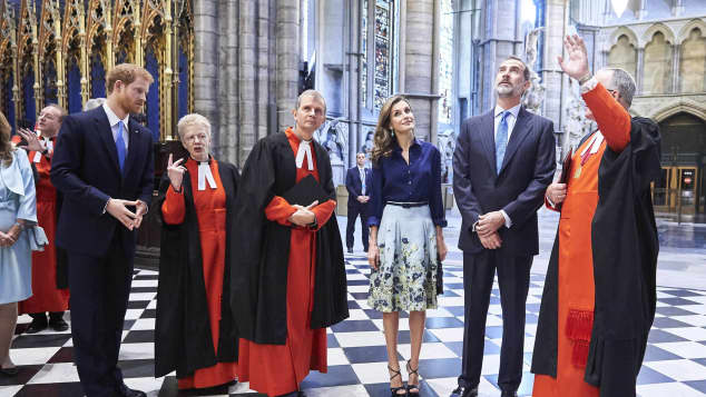 Könige Felipe von Spanien Königin Letizia Prinz Harry Westminster Abbey