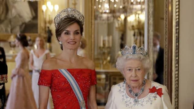 Königin Elisabeth II. freut sich über den Besuch der spanischen Royals