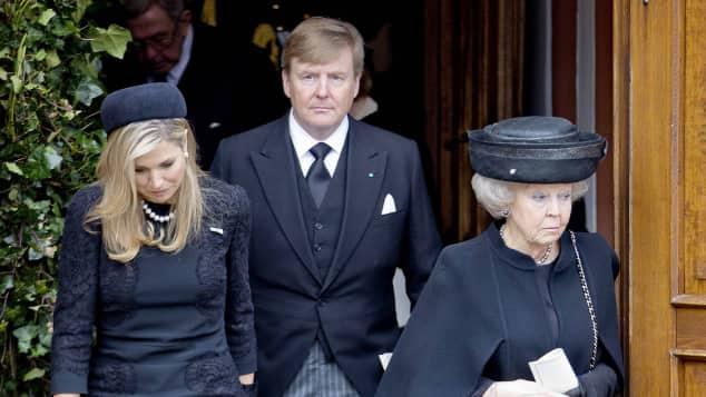 Königin Máxima, König Willem-Alexander und Prinzessin Beatrix der Niederlande Trauergottesdient Prinz Richard zu Sayn-Wittgenstein