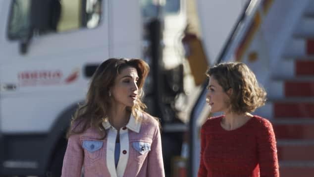 Königin Rania von Jordanien und Königin Letizia von Spanien verstehen sich gut