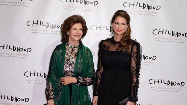 Königin Silvia Prinzessin Madeleine schwanger Babybauch