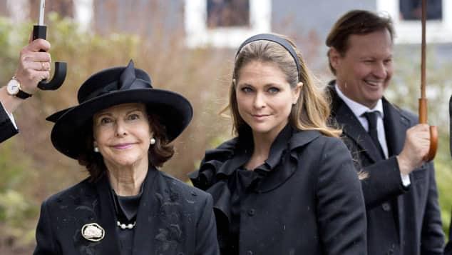 Königin Silvia und Prinzessin Madeleine von Schweden Trauerfeier Prinz Richard zu Sayn-Wittgenstein