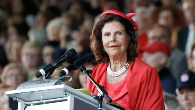 Königin Silvia von Schweden in Aachen