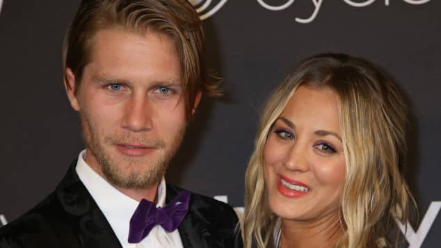 Kaley Cuoco Karl Cook Golden Globes