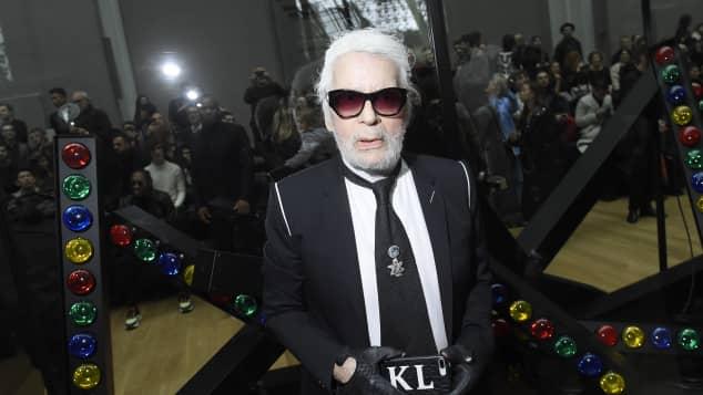 Karl Lagerfeld bei der Dior-Fashion-Show im Januar 2018