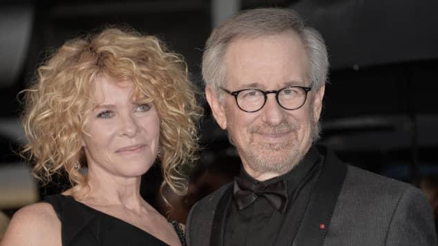 Kate Capshaw und Steven Spielberg sind glücklich
