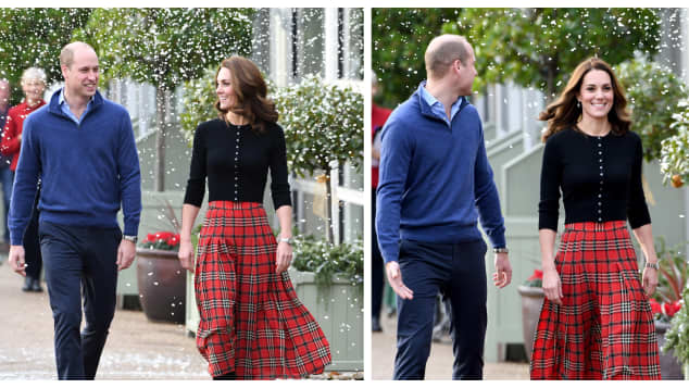 The Duke and Duchess of Cambridge host a Christmas party in support of military personnel