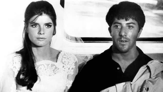 """Katharine Ross an der Seite von Dustin Hoffman in """"Die Reifeprüfung"""""""