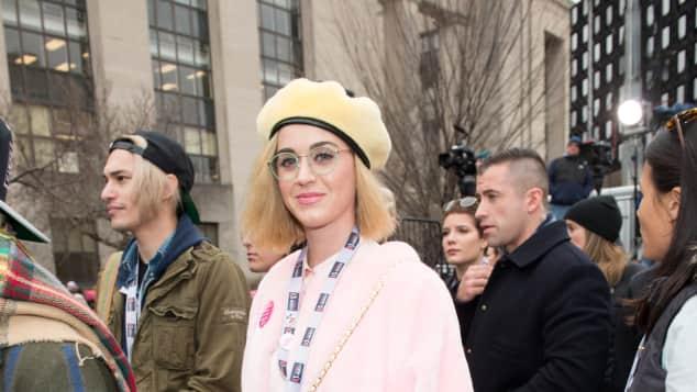 Sängerin Katy Perry auf dem Women's March in Washington