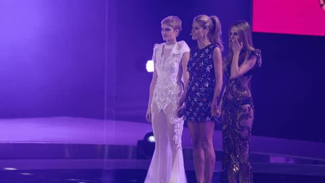 Kim Hnizdo, Heidi Klum und Elena Carrière Germany's Next Topmodeö Finale