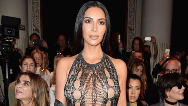 Kim Kardashian im Transparent-Look