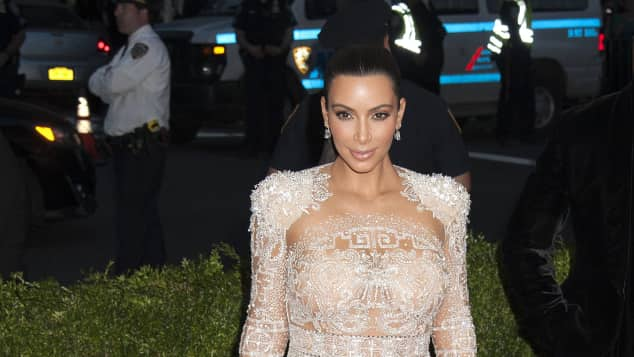 Kim Kardashian im sexy Kleid auf der Met Gala