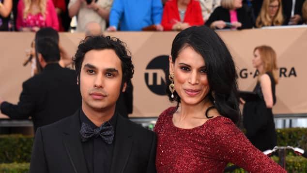 Kunal Nayyar und Neha Kapur bei den SAG Awards