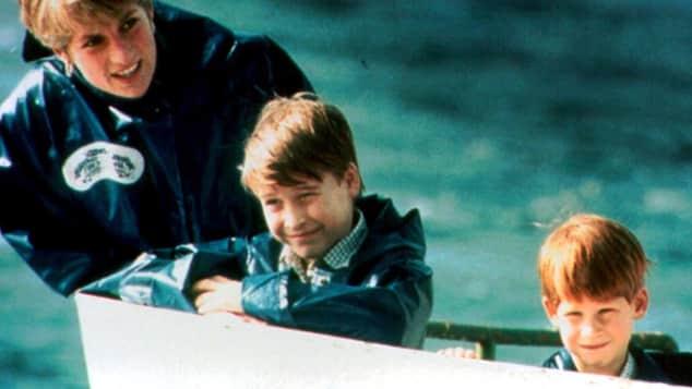 Prinz William, Lady Diana und Prinz Harry