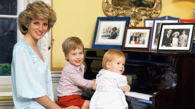 Kinderbild Lady Diana, Prinz William und Prinz Harry