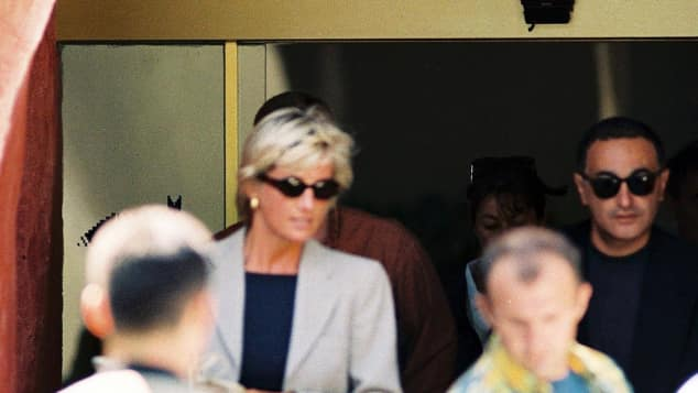 Lady Diana und Dodi Al-Fayed 1997 in Italien