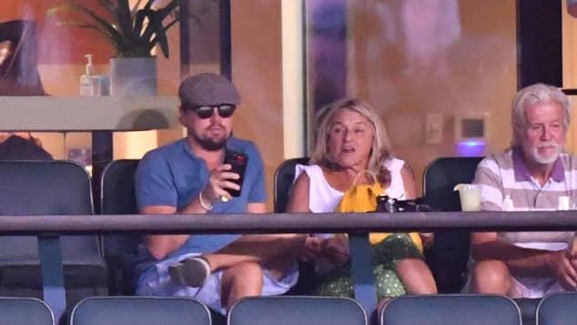 Leonardo DiCaprio mit seiner Mama Irmelin beim Tennis-Tournier