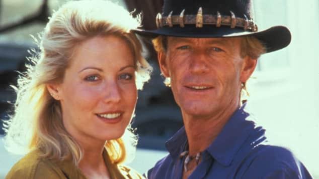 Linda Kozlowski und Paul Hogan fell in love on set.