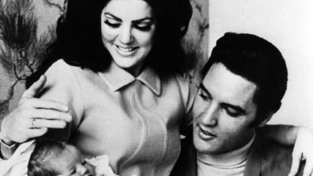Lisa Marie Presley, Priscilla Presley und Elvis Presley