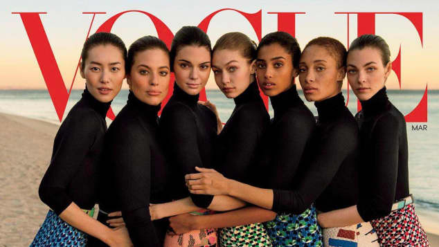 Vogue Gigi Hadid Kendall Jenner Ashley Graham