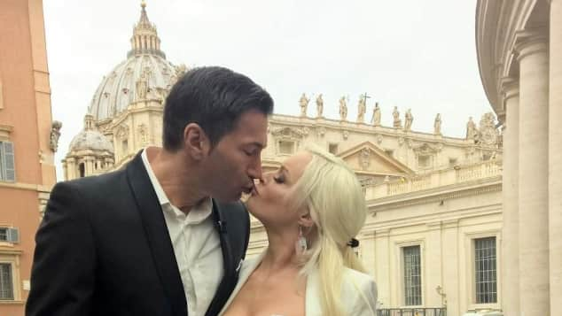 Lucas Cordalis und Daniela Katzenbergerer in Rom