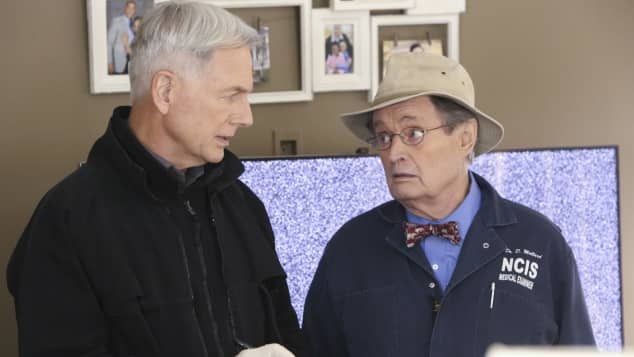 "Mark Harmon alias ""Gibbs"" und Donald McCallum alias ""Ducky"" in der Serie ""NCIS"""
