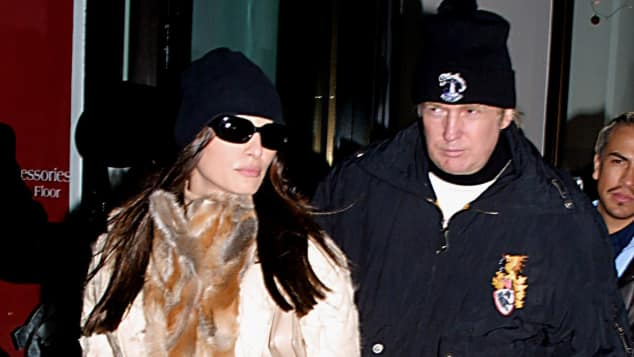 Melania und Donald Trump vor 15 Jahren auf den Straßen von New York