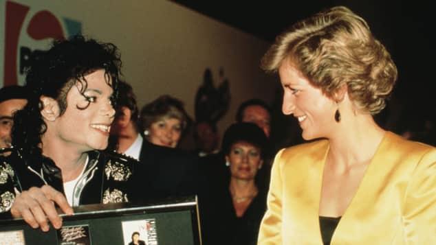 Michael Jackson Lady Diana Treffen Konzert
