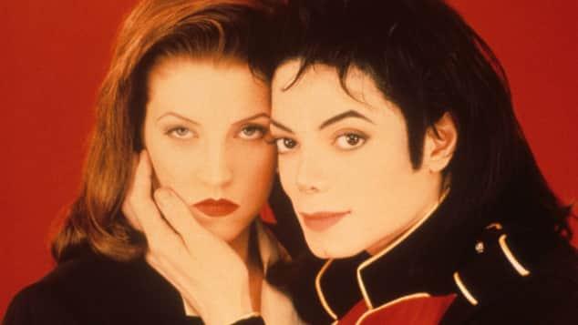 Michael Jackson und Lisa Marie Presley im Jahr 1995