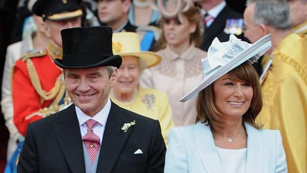 Michael und Caroline Middleton bei der Hochzeit von Kate und William 2011