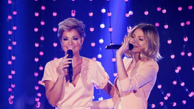 Michelle sang gemeinsam mit ihrer Tochter Marie
