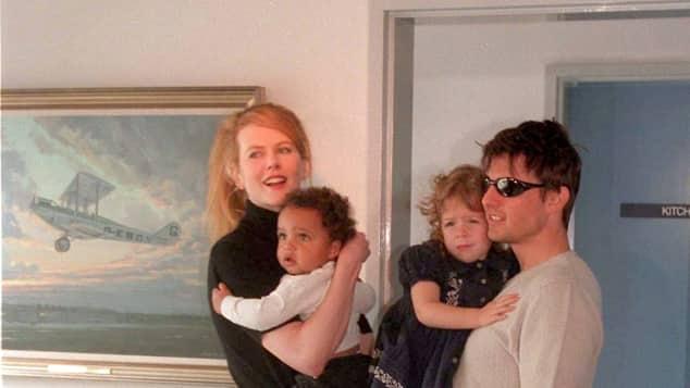 Nicole Kidman und Tom Cruise mit den beiden Adoptivkindern