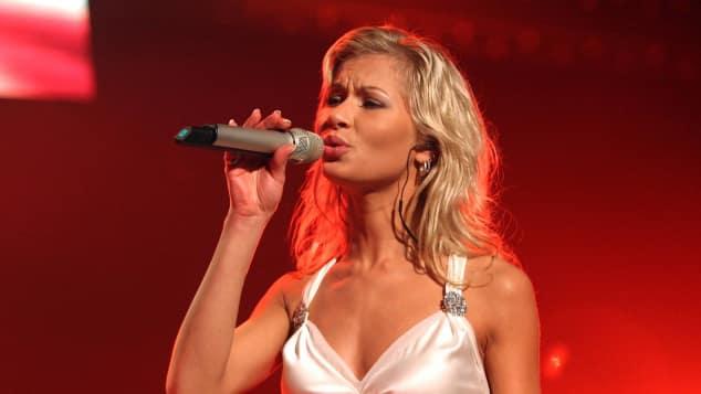 Nicole Süßmlich beim Vorentscheid des Eurovision Song Contests