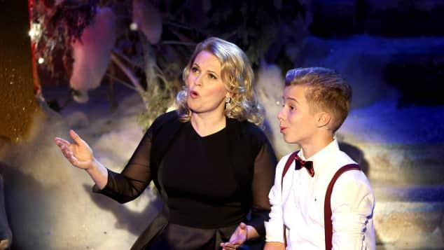 Patricia Kelly und ihr Sohn Iggi. Er hat ihr Talent geerbt. Sänger The Voice Kids