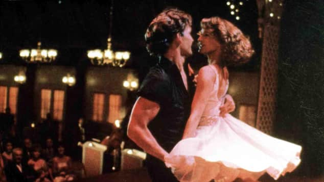 "Patrick Swayze als ""Johnny"" und Jennifer Grey als ""Baby"" Dirty Dancing Tanz"