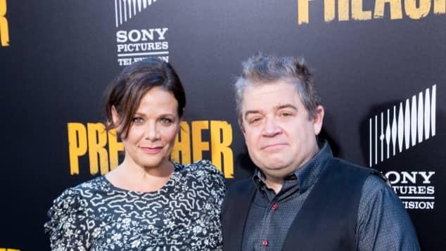 Comedian Patton Oswalt und Verlobte Meredith Salenger wehren sich gegen Kritiker