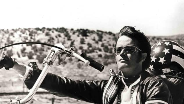 "Peter Fonda in ""Easy Rider"""