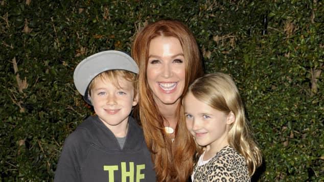 Poppy Montgomery mit ihren Kindern Jackson und Violet Without a Trace Agent was macht sie heute