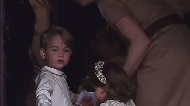 Prinz George und Prinzessin Charlotte bei Pippa Middleston Hochzeit